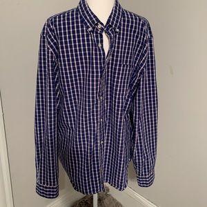 J. Crew Plaid Oxford Button Down Shirt XL